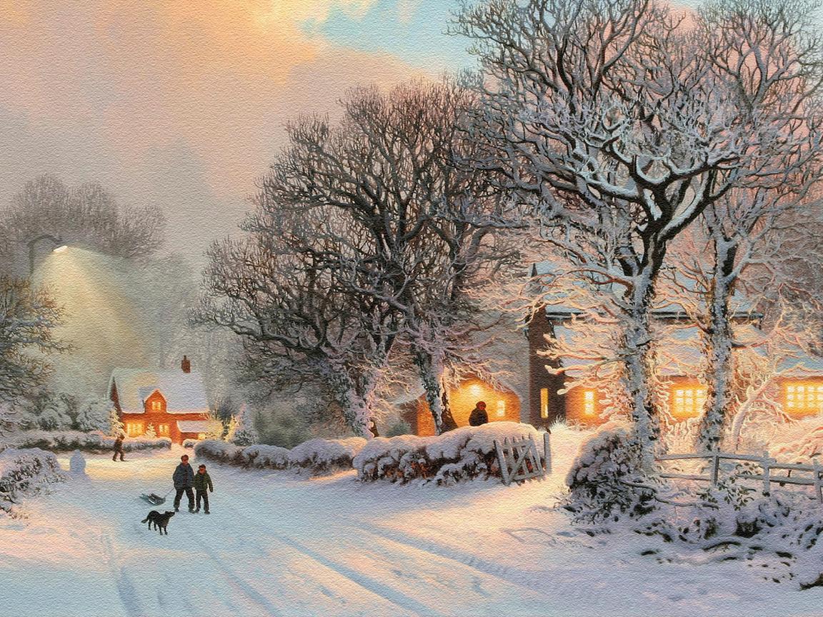 Открытки с видами зимы