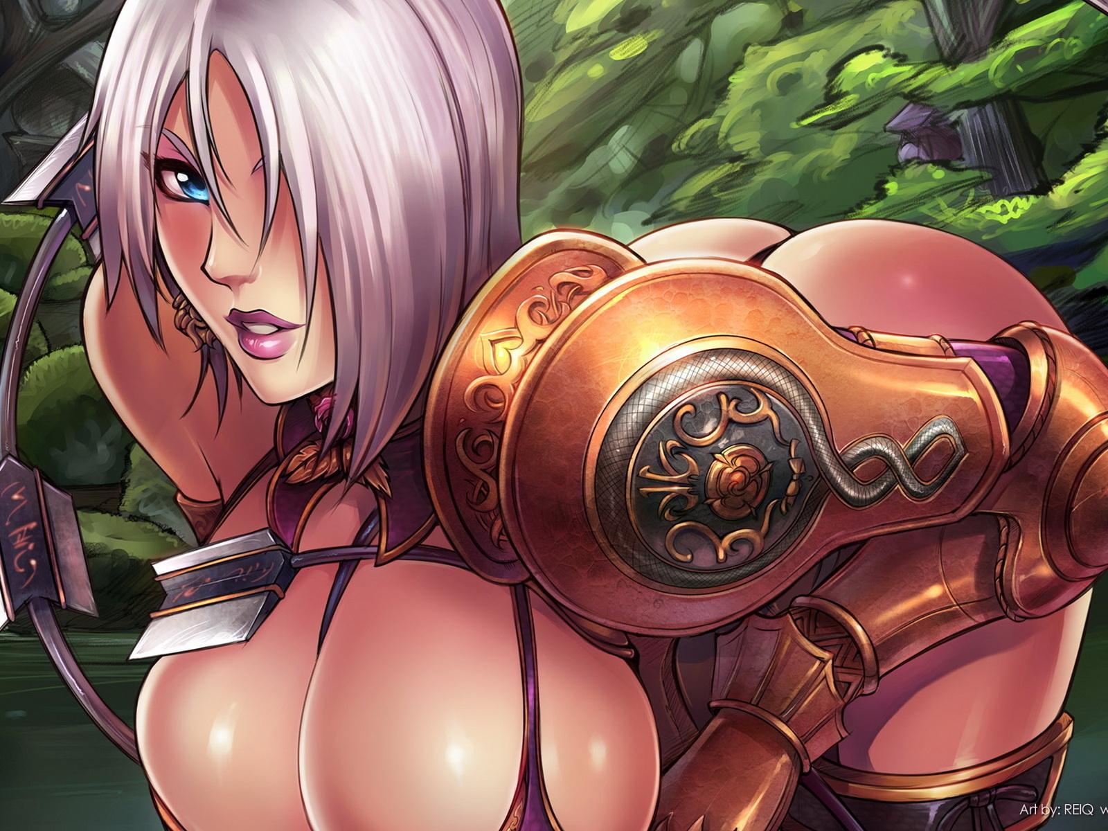 Рисованные аниме с большой грудью 17 фотография