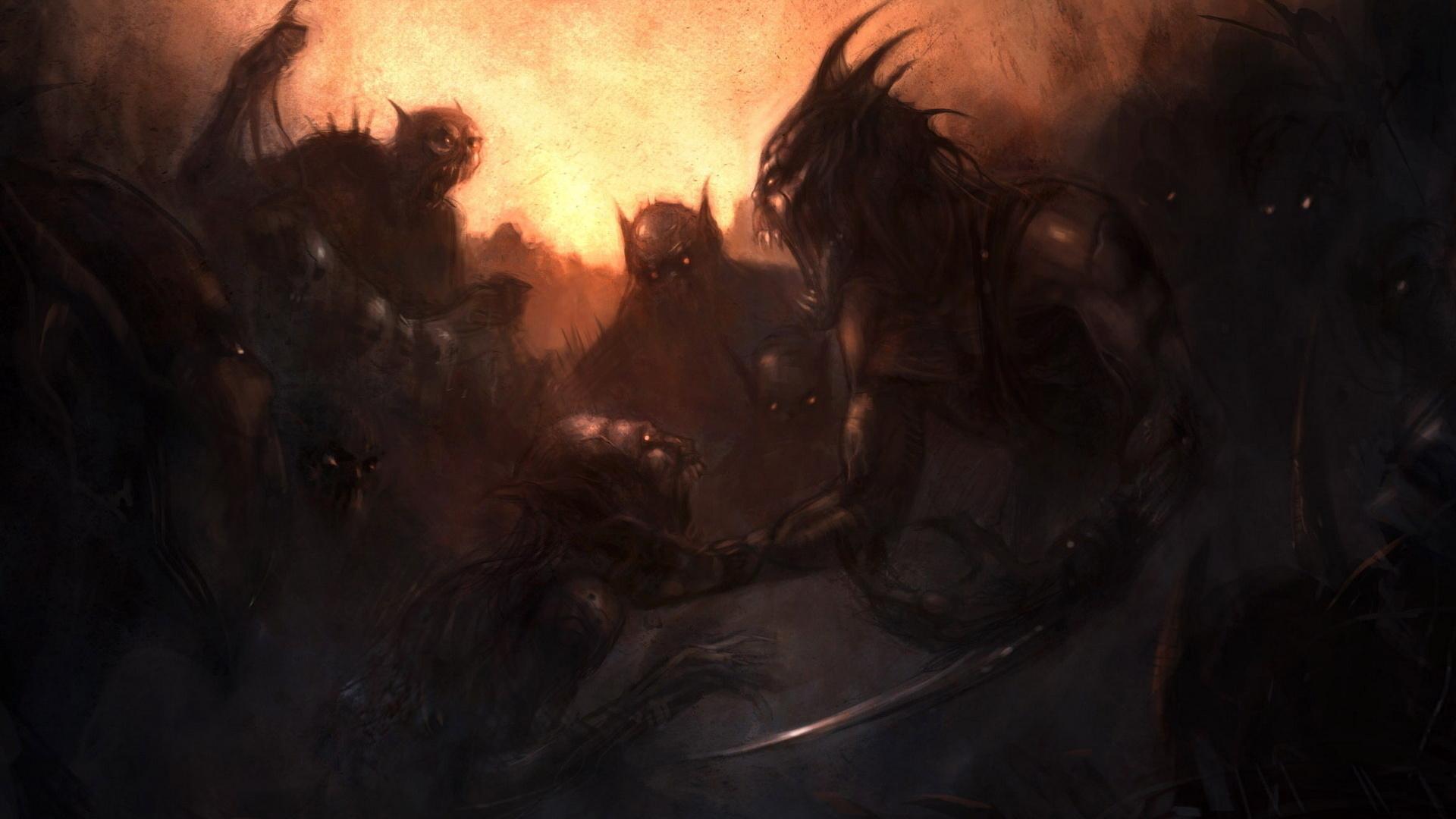 Демоны черти нечисть клинок ужас
