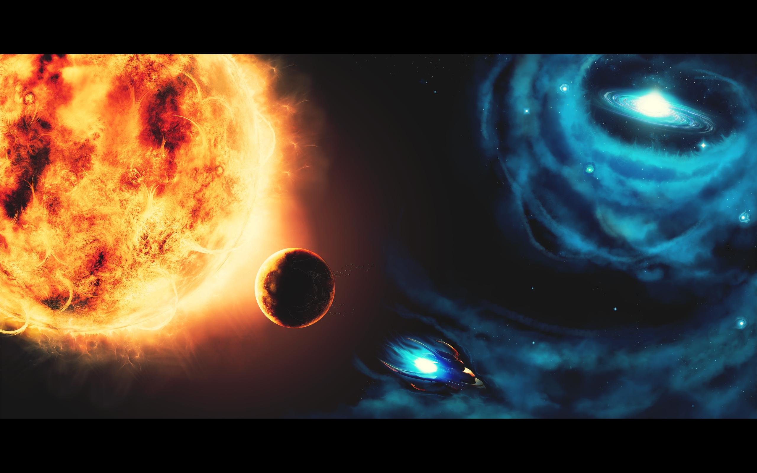 Солнце космос планета рисунок photoshop