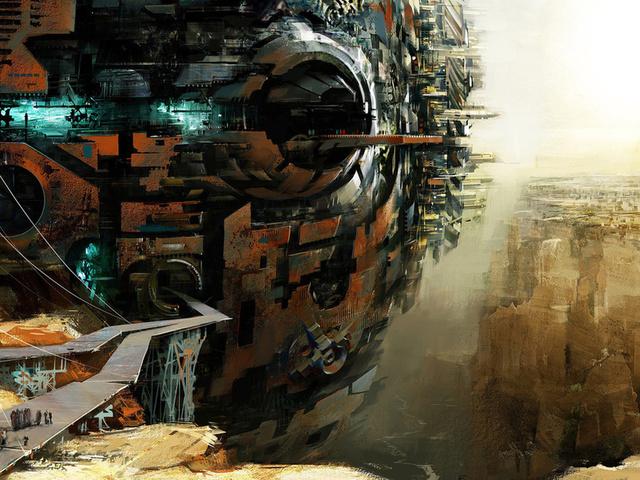 будущее, future, База, мир будещего, люди, корабль, фантастика, масштаб,конструкция, пропасть