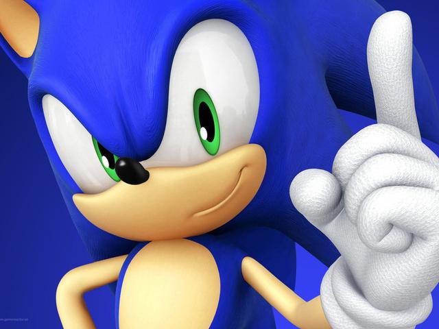 sega, sonic, соник, Ёж, синий, ежик, палец, ладонь, рука, зеленые глаза, рисунки, аниме, мультфильмы