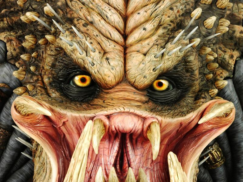 predator, хищник, охотник, воин, голова, клыки, глаза, макро, чудище, дикобраз, чудовище, фильмы