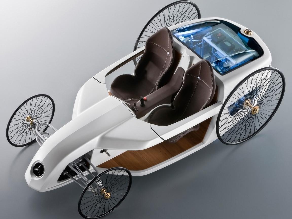 Mersedes, мерседес, машина, concept, benz, авто, f-cell, белая, roadster