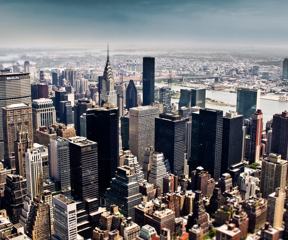 небоскребы, высота, здания, мегаполис, небо, Нью-йорк