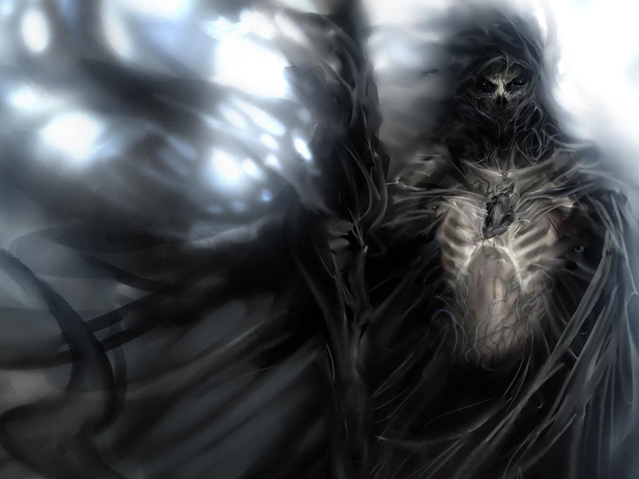 , воин, посох, плащ, Душа, скелет