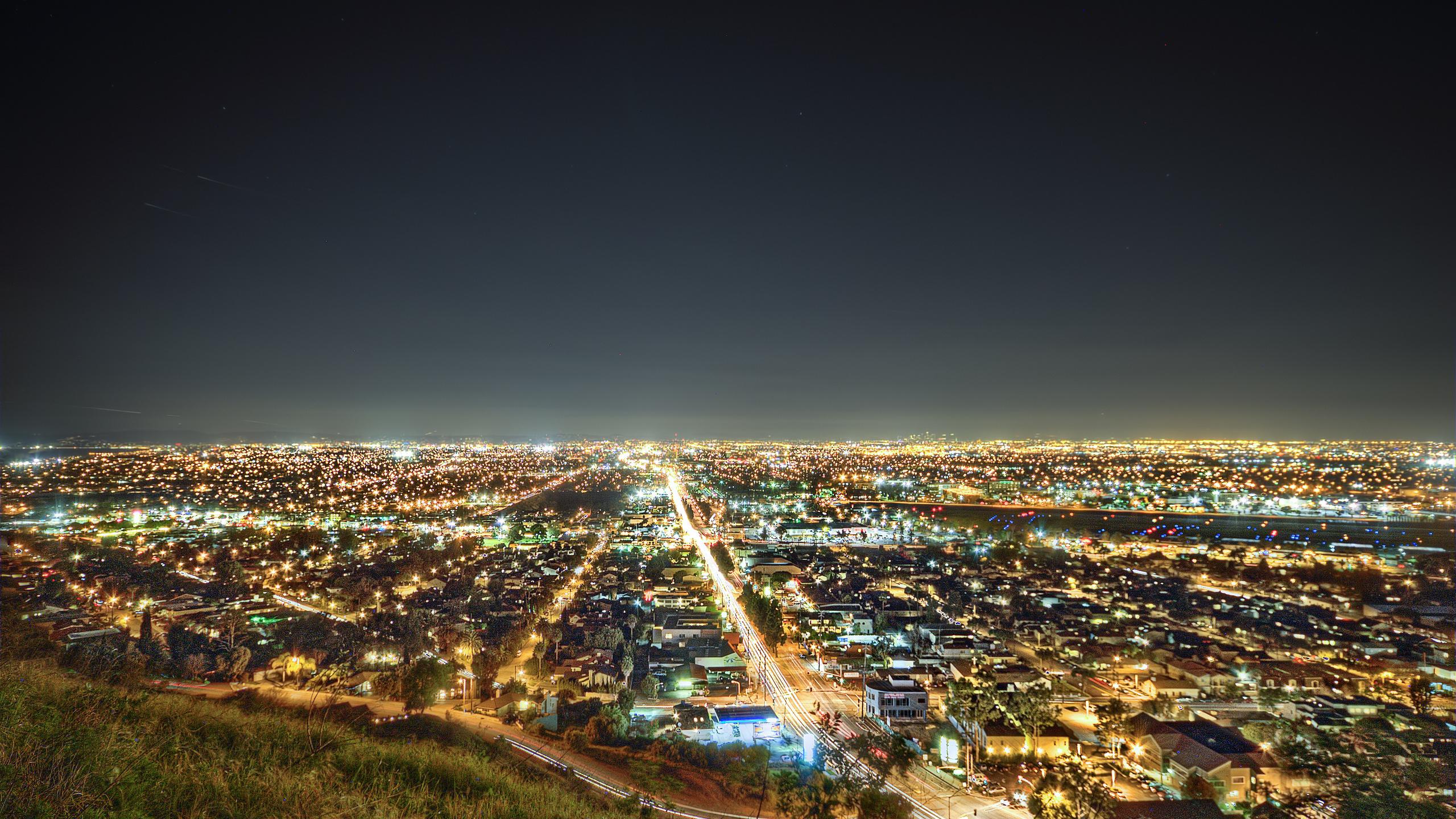 Картинки 1280x720 night, los angeles, лос-анджелес, lights, The south