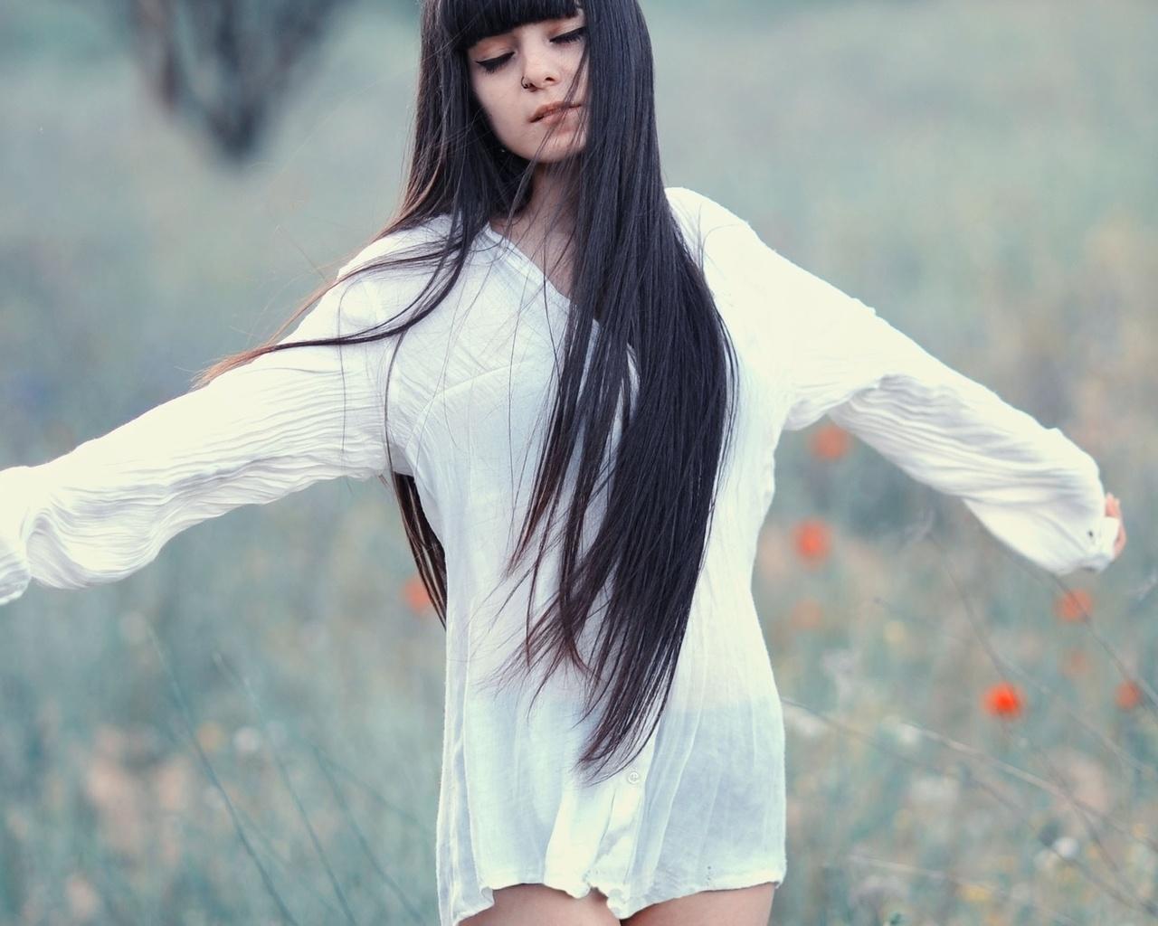 Фото девушек брюнеток с длинным волосам