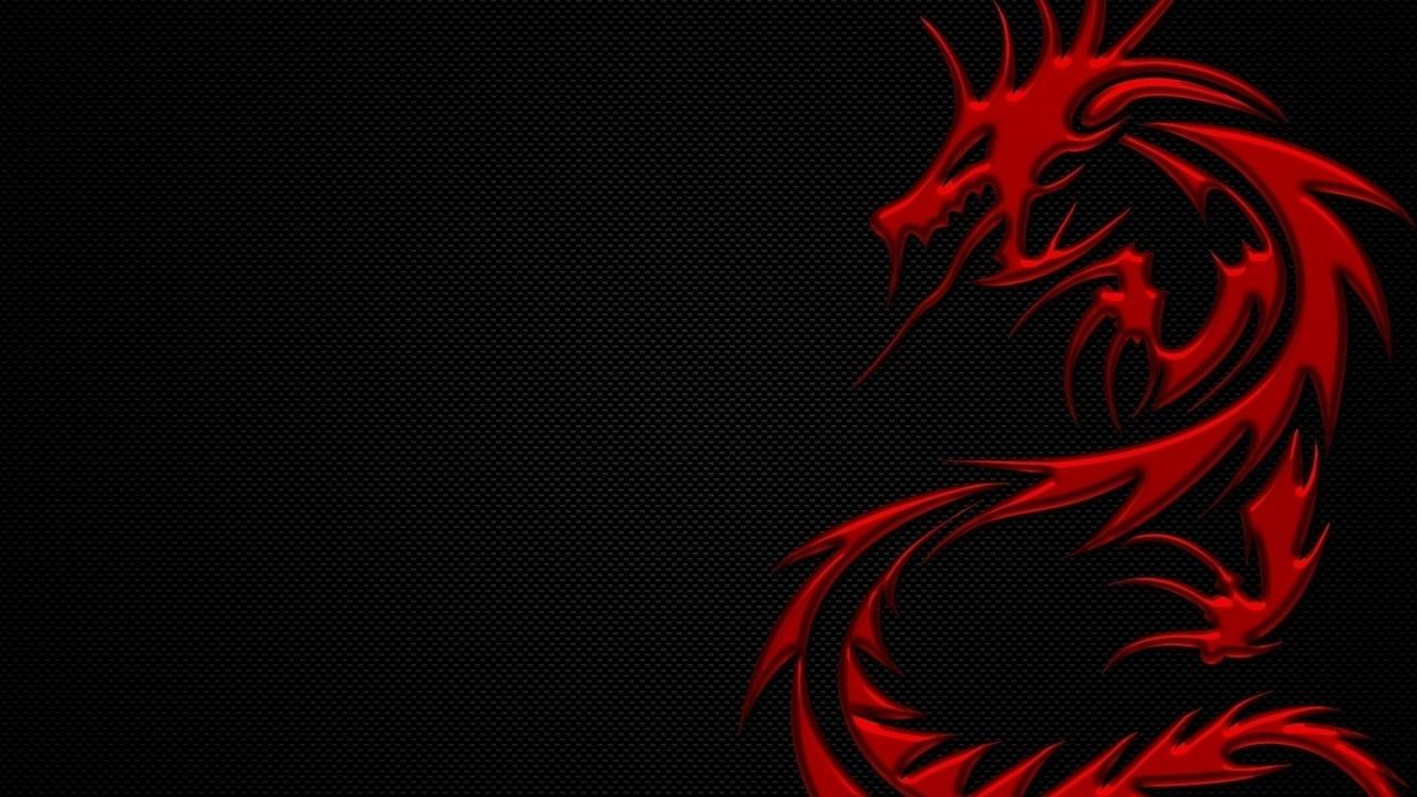 2012, дракон, год дракона, красный, Черный фон