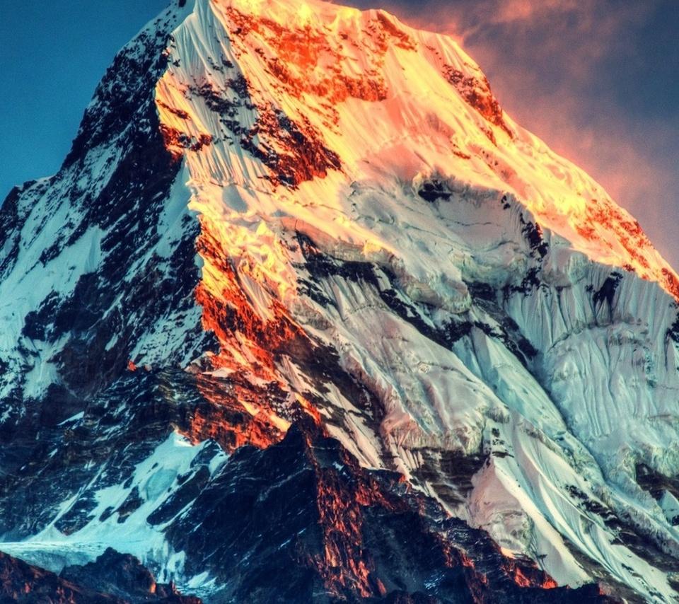 beauty, top, nature, light, mountain, snow