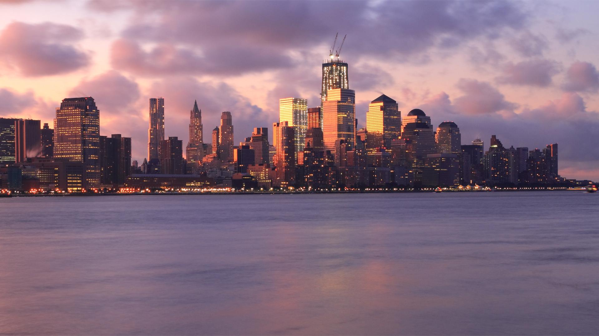 сша, небоскребы, new york, Usa, здания, нью-йорк, мегаполис