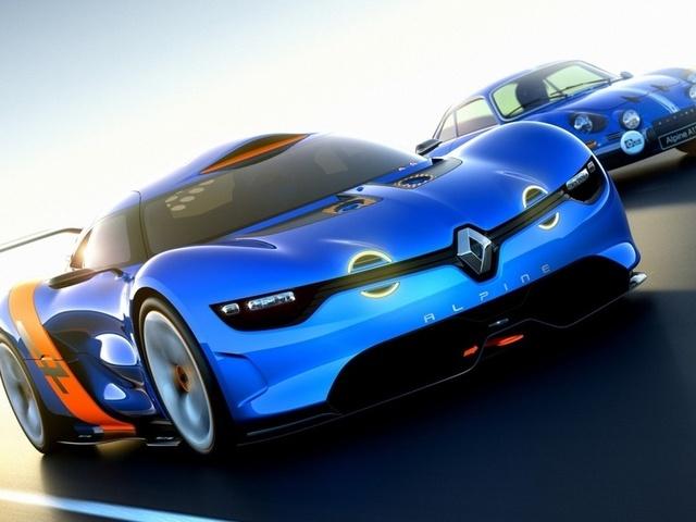 концепт, alpine, Renault, рено, a110-50, алпайн, concept, передок