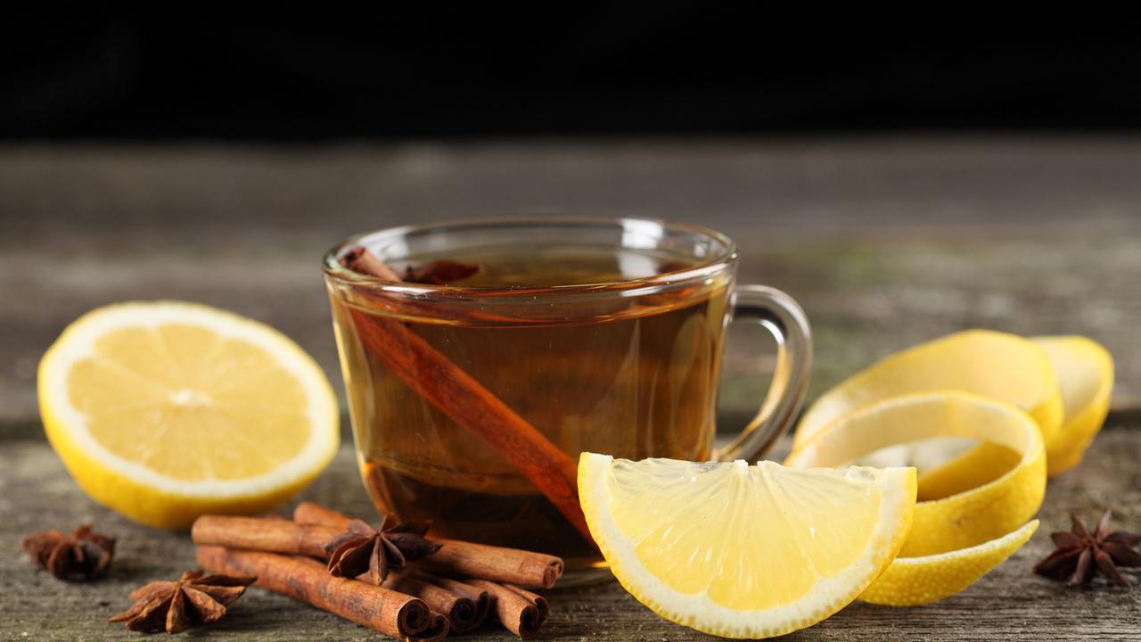 чай, корица, лимон, Чашка