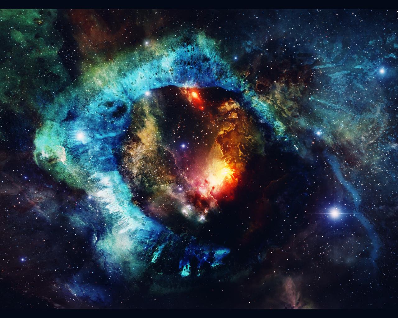 туманность, арт, universe, Космос, art, звезды, space, nebula, stars