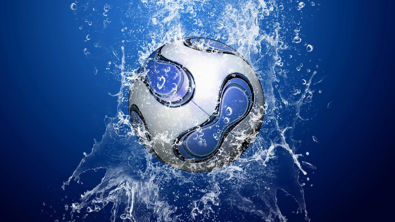 капли, мяч, Вода