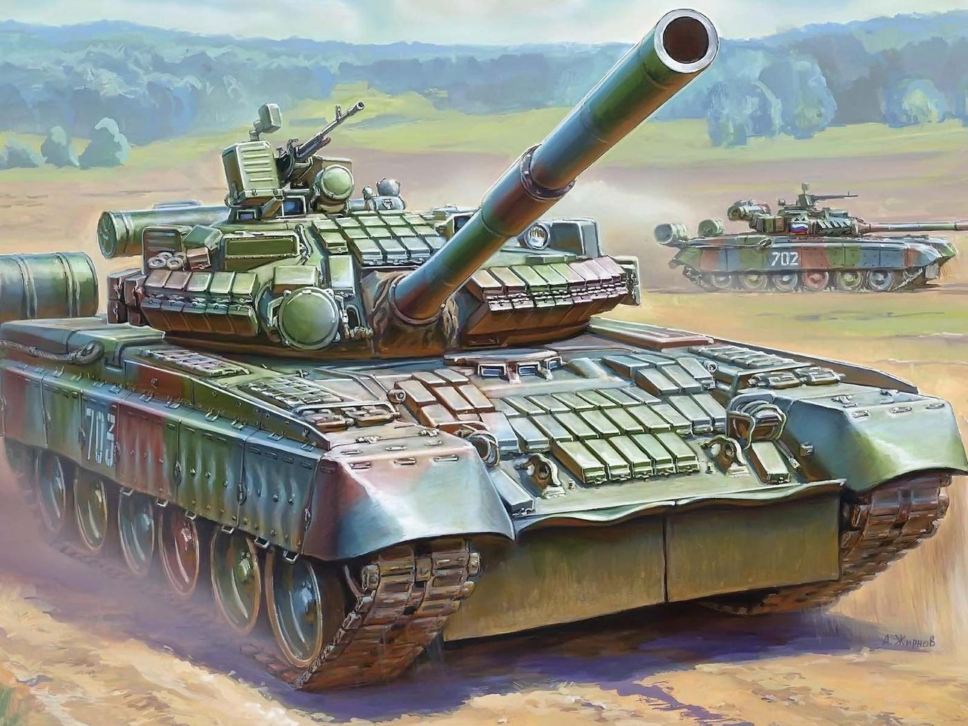танк, пушка, боевой, 125-мм, т-80бв, основной, Российский