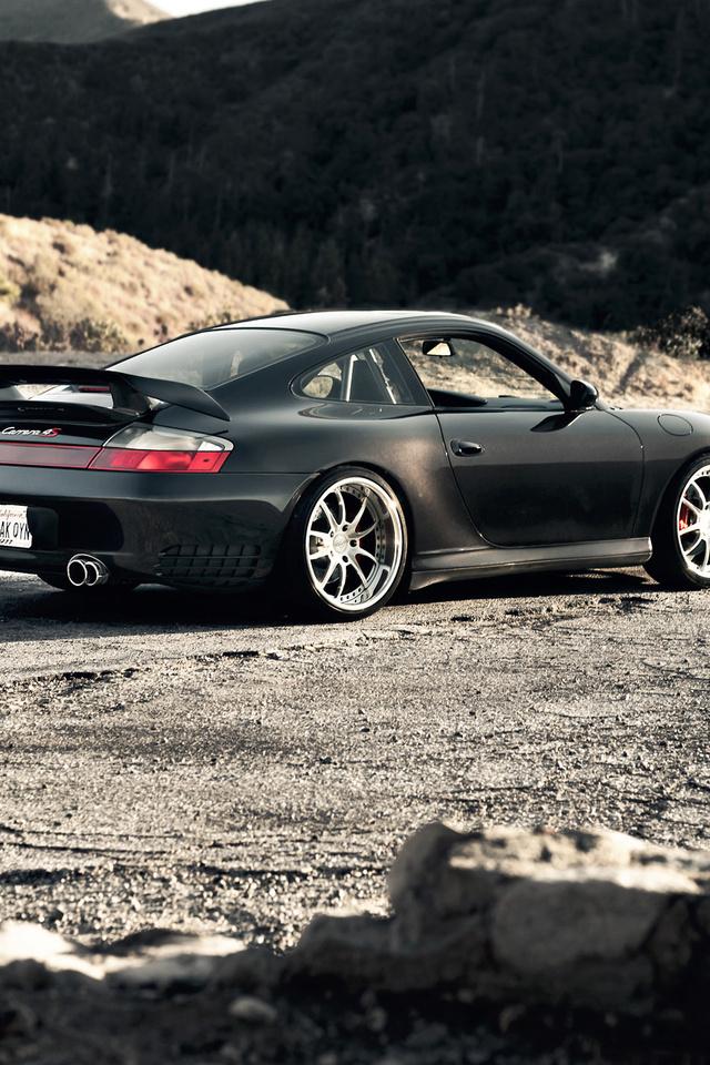 суперкар, горы, carrera, Porsche, 4s, черный, 996