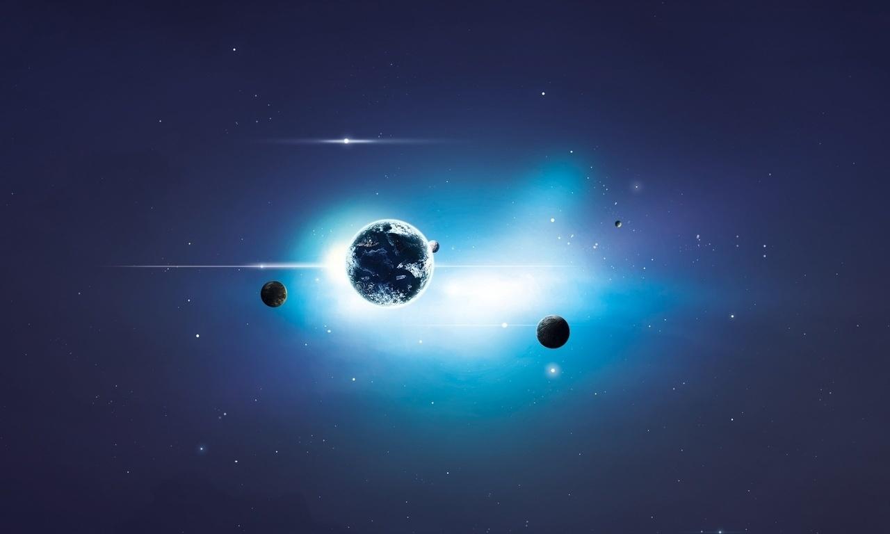 арт, Space, планеты, космос