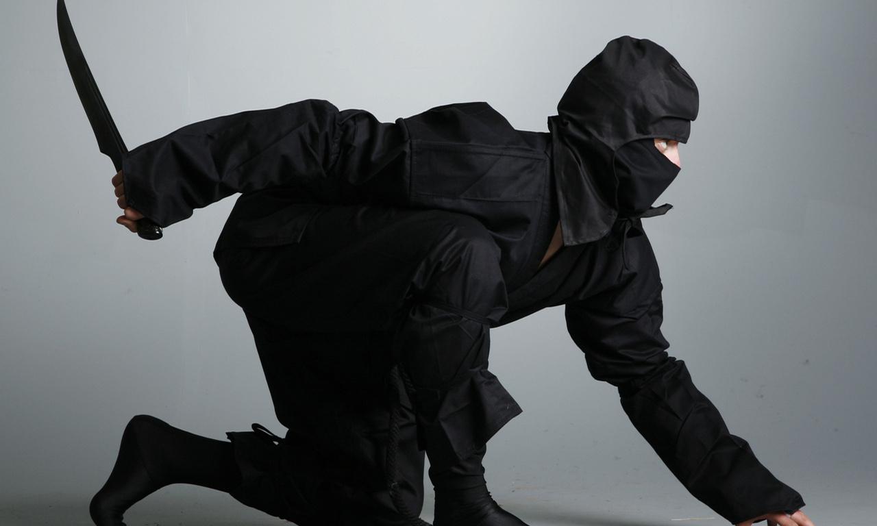 кинжал, shinobi, нож, ninja, черный костюм, Ниндзя