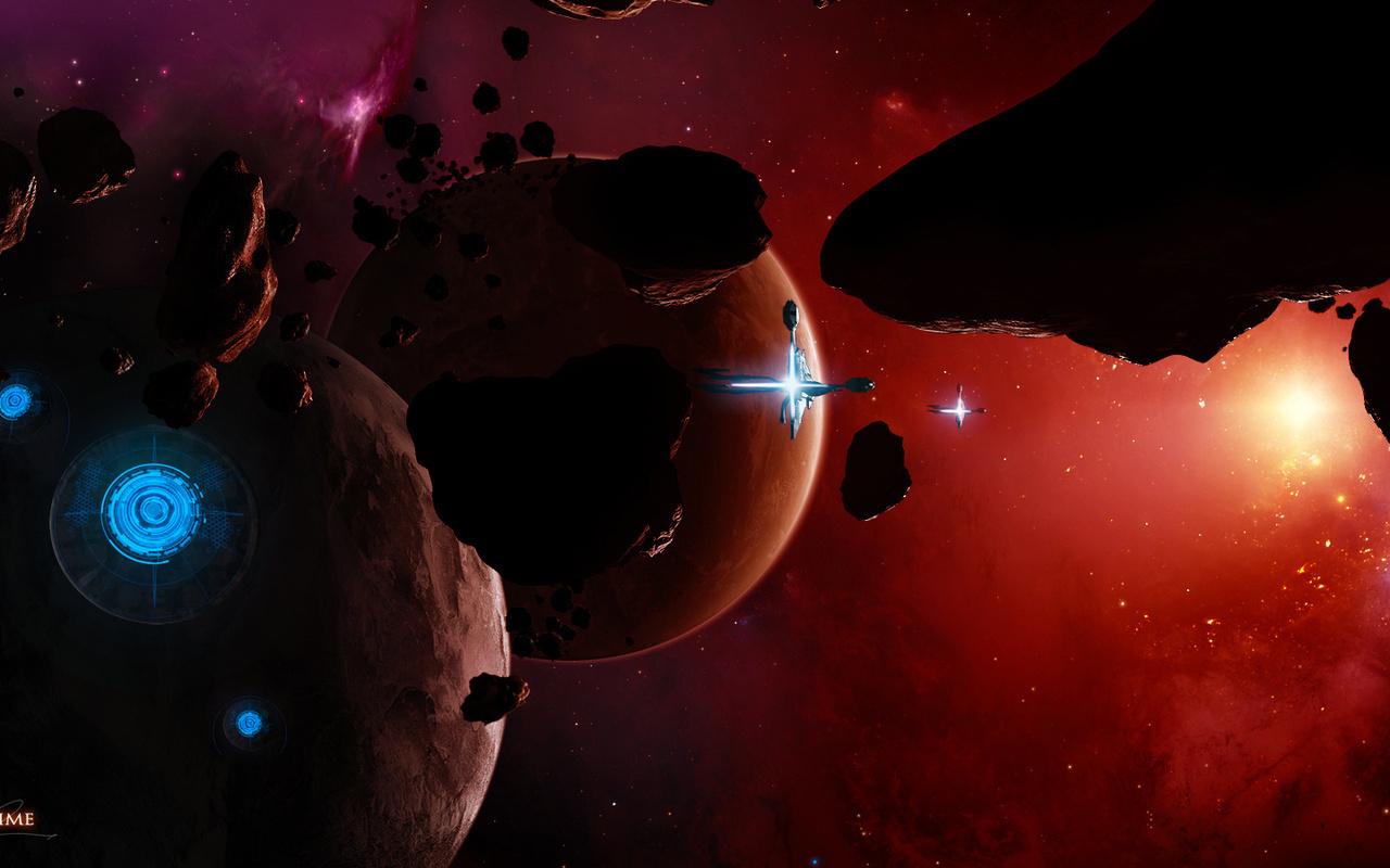 планета, Космос, planet, арт, космические корабли, space, stars