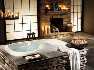 стиль, вилла, дизайн, дом, ванная, Интерьер
