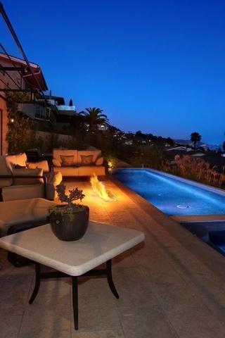 мебель, огонь, кресла, диван, бассейн, Дом, джакузи