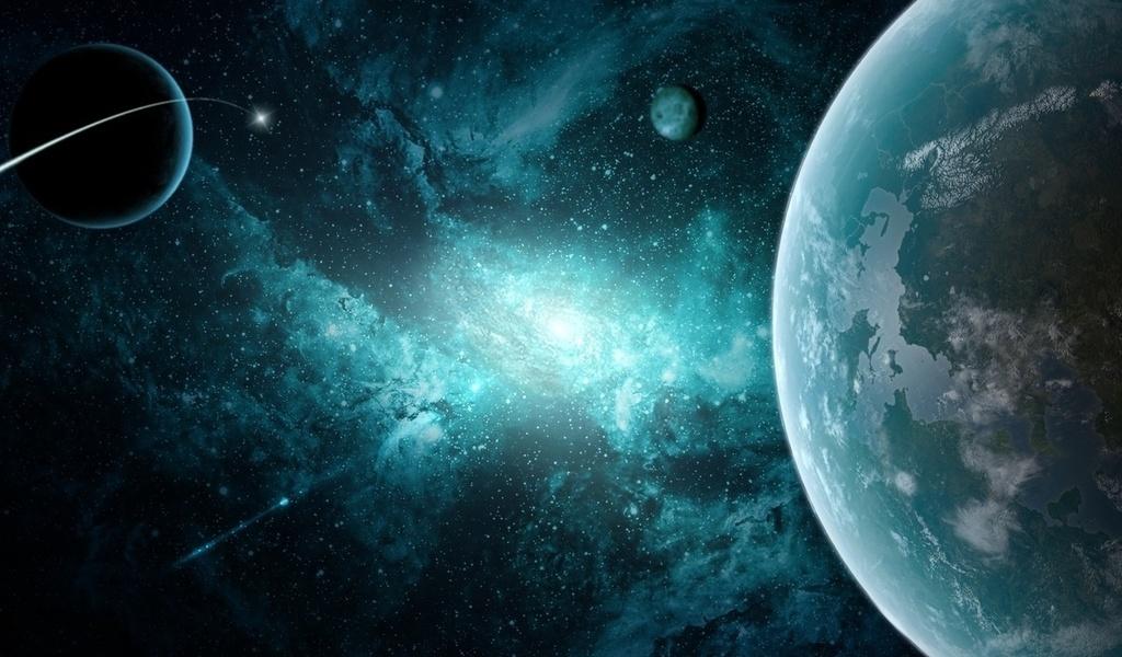 звезды, космос, Галактика, планеты
