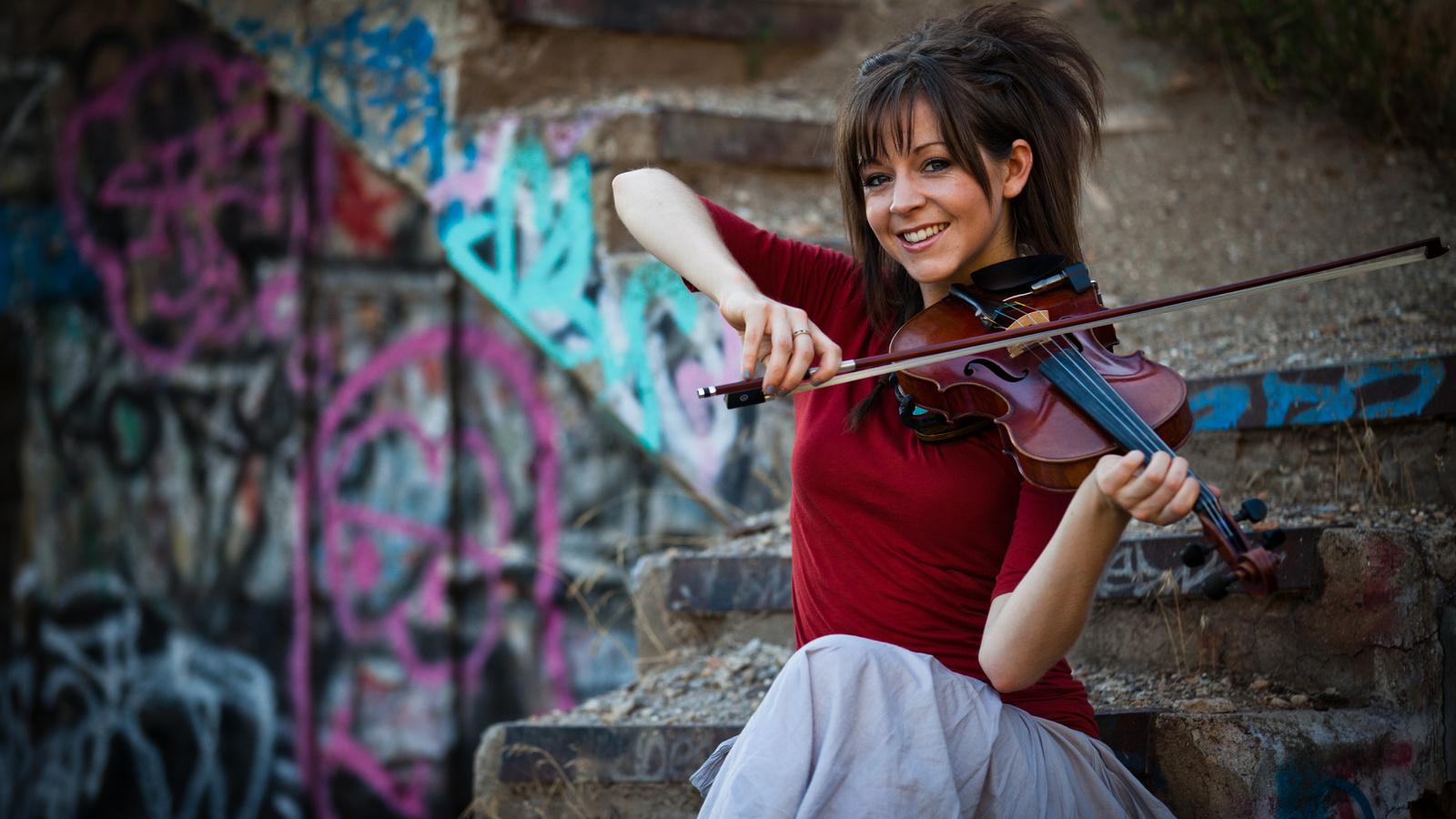 скрипка, Lindsey stirling, violin, линдси стирлинг, девушка
