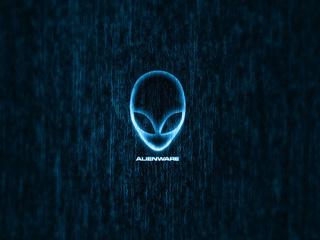 logo, alien, Alienware, blue, head, brand