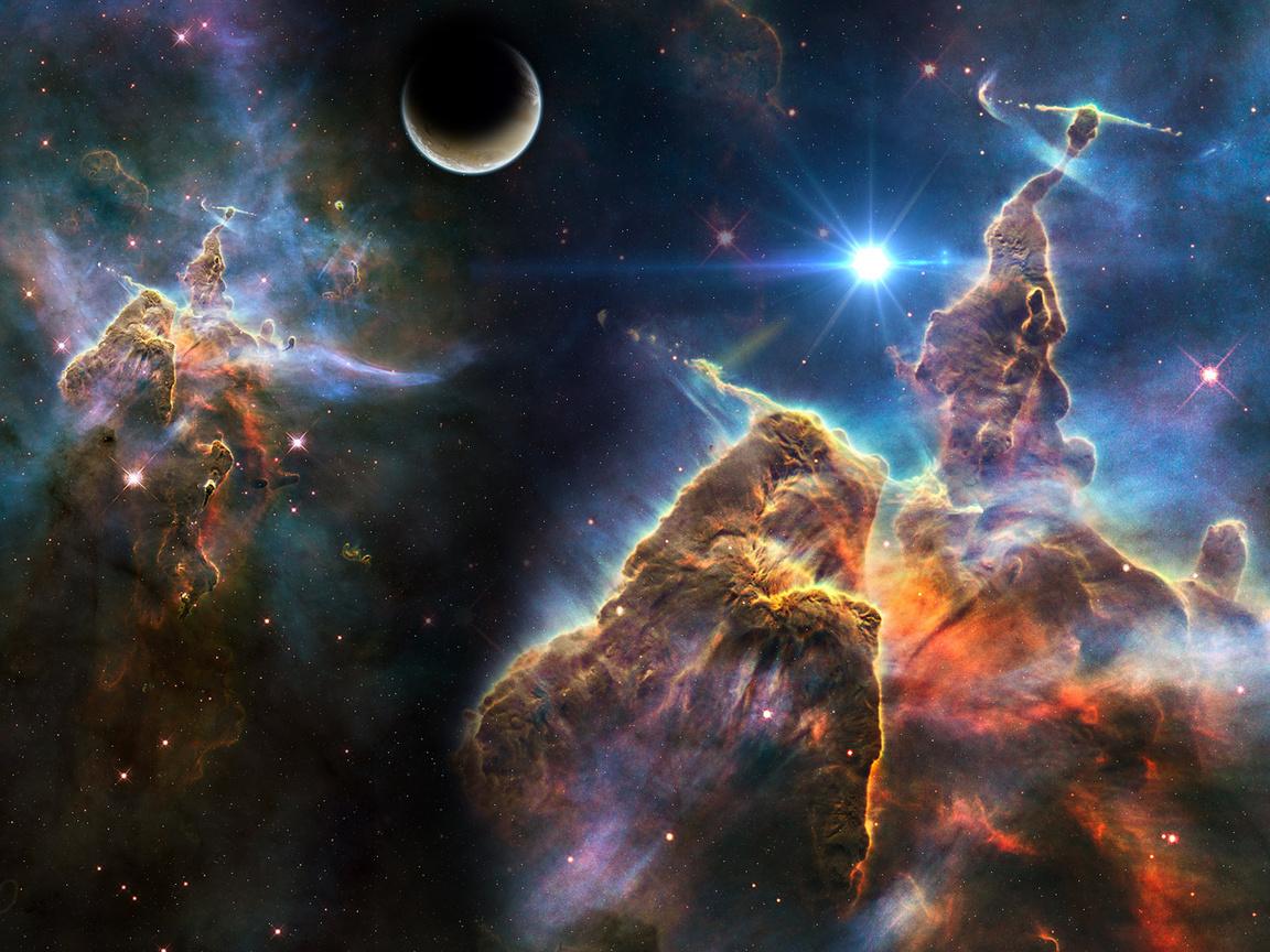 stars, Космос, звезды, планета, planet, space, , art, туманность
