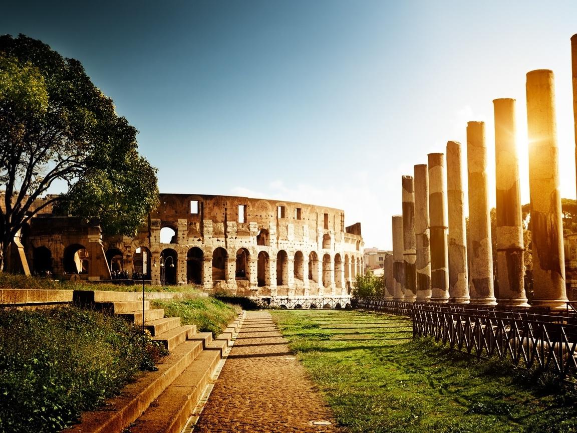 амфитеатр, Italy, рим, колизей, италия, rome, colosseum