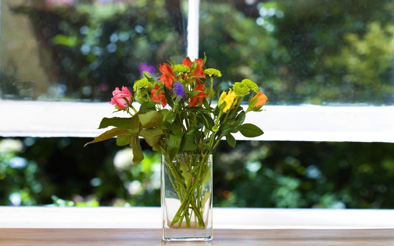 Подоконник с цветами фото