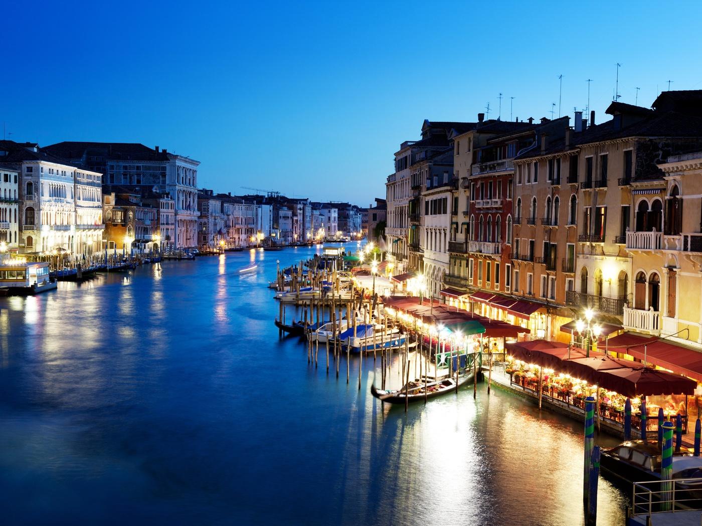 Гранд-канал, venice, венеция, италия, вечер, italy, canal grande