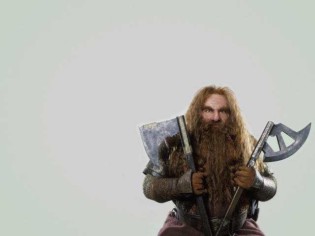 gimli, бородатый, Джон рис-дэвис, john rhys-davies, оружие, гном