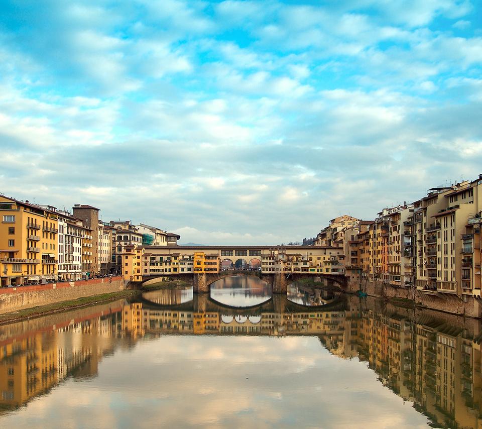 река, италия, florence, флоренция, Ponte vecchio, старый мост, italy