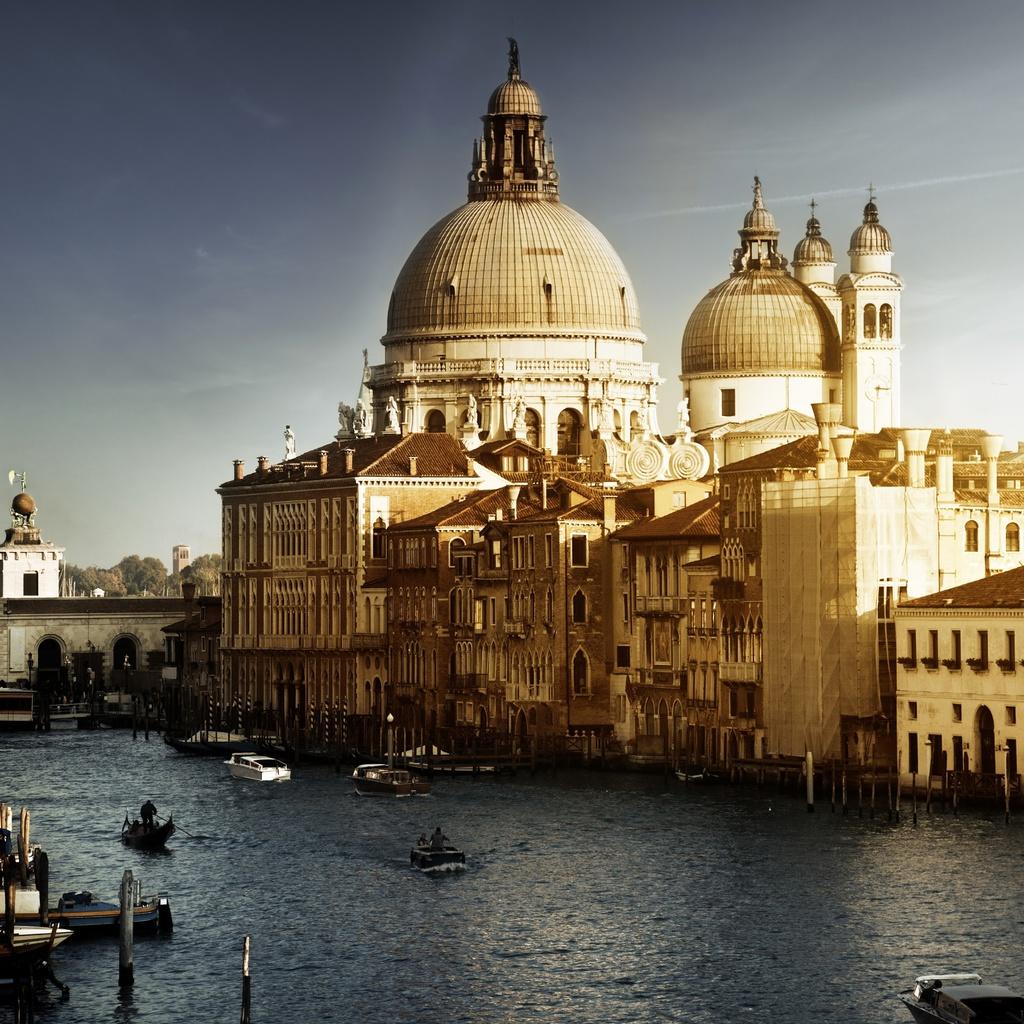 гондолы, Venice, италия, здания, лодки, венеция, канал, italy