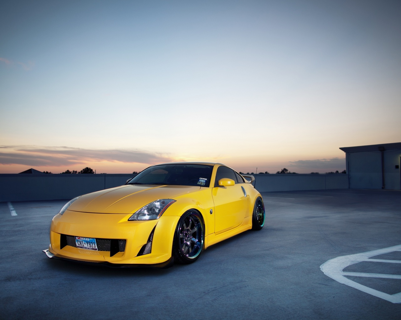 Auto, tuning, photo, nissan, wallpapers auto, tuning auto, city, nissan 350z, parking, cars, 350z