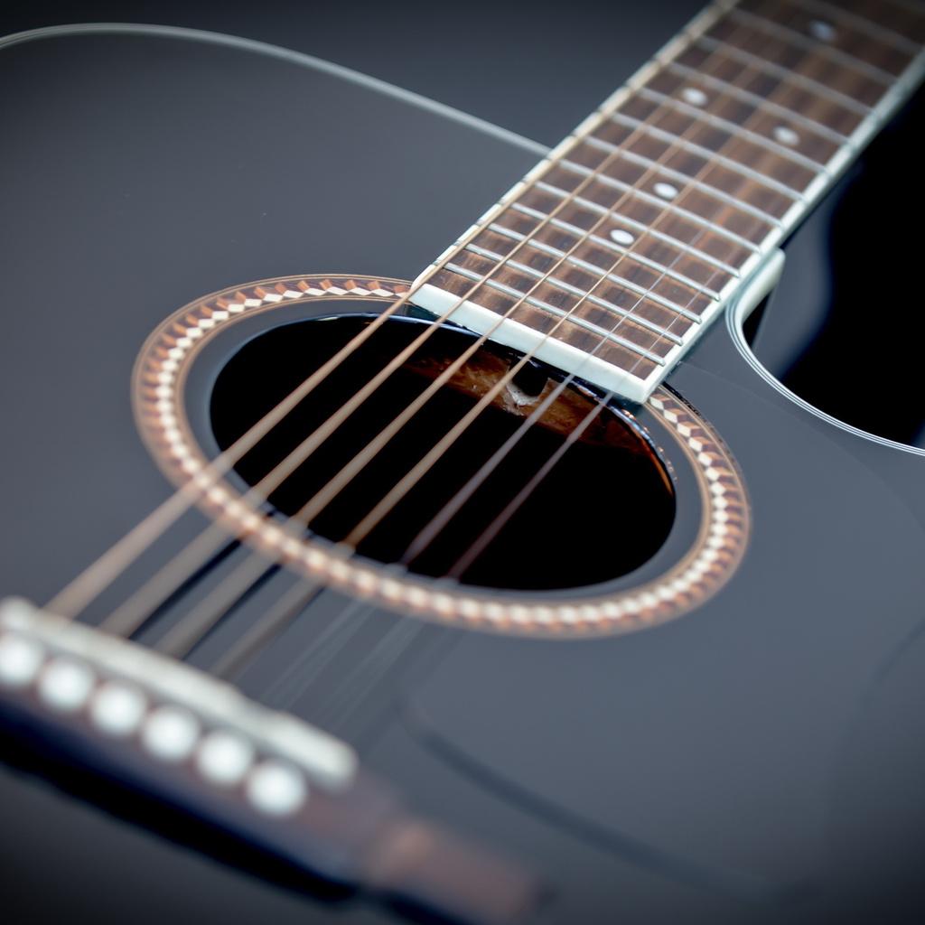 Гитара, макро, музыка