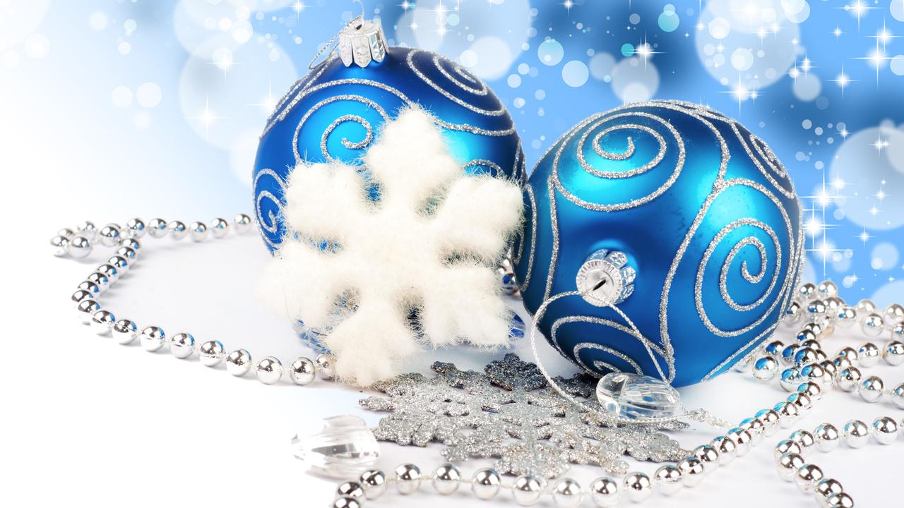 diamonds, blue balls, necklace, new year, Merry christmas, jewelry, lights, bokeh, decoration