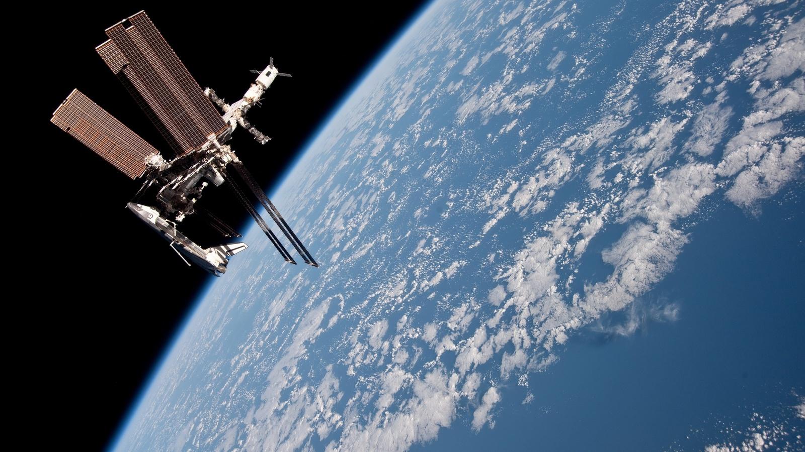 Космос, планета, орбита, мкс