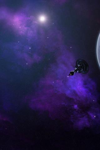 туманность, Планета, спутник, космос, звезды