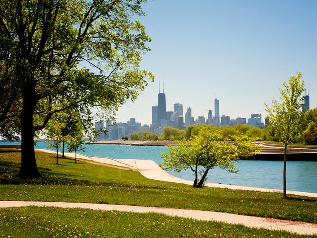 чикаго, сша, здания, chicago, usa, парк, америка, Illinois
