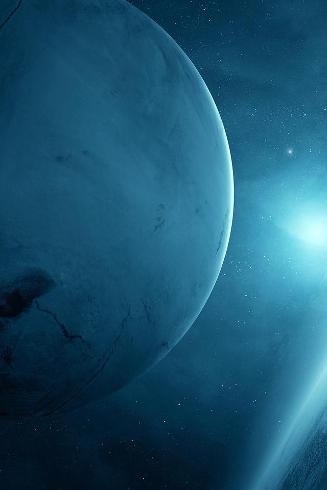light, Planet blue, sci fi, 2, two