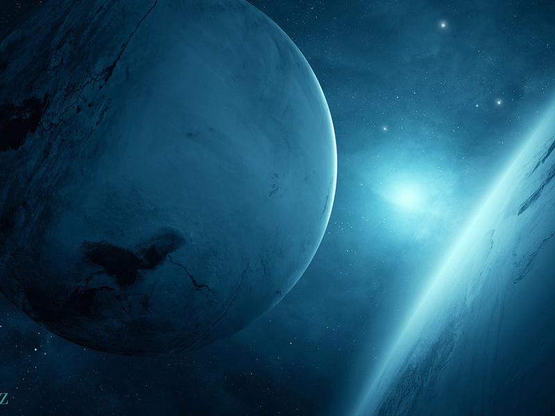 light, Planet blue, sci fi, 2, two