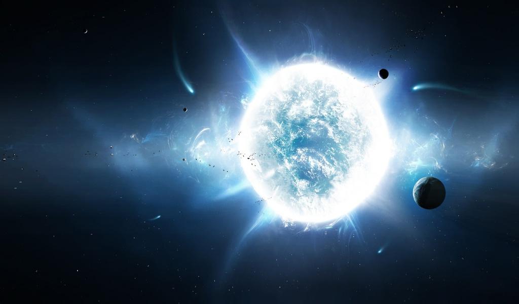 stars, planets, white, Sun