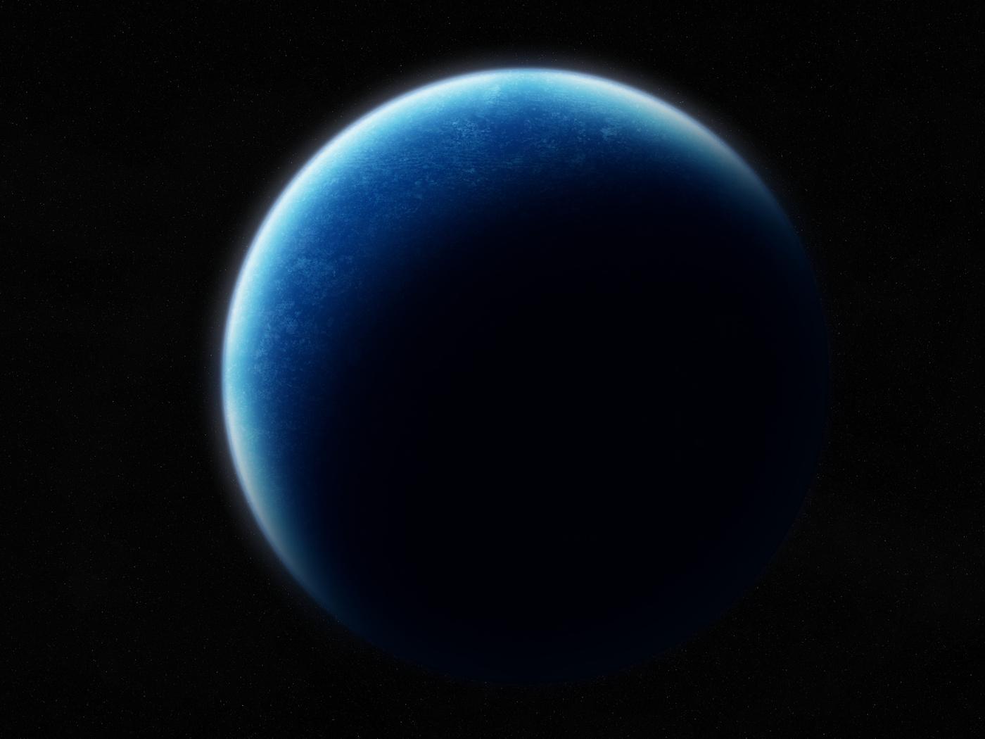 Sci fi, planet, blue, shadows, black