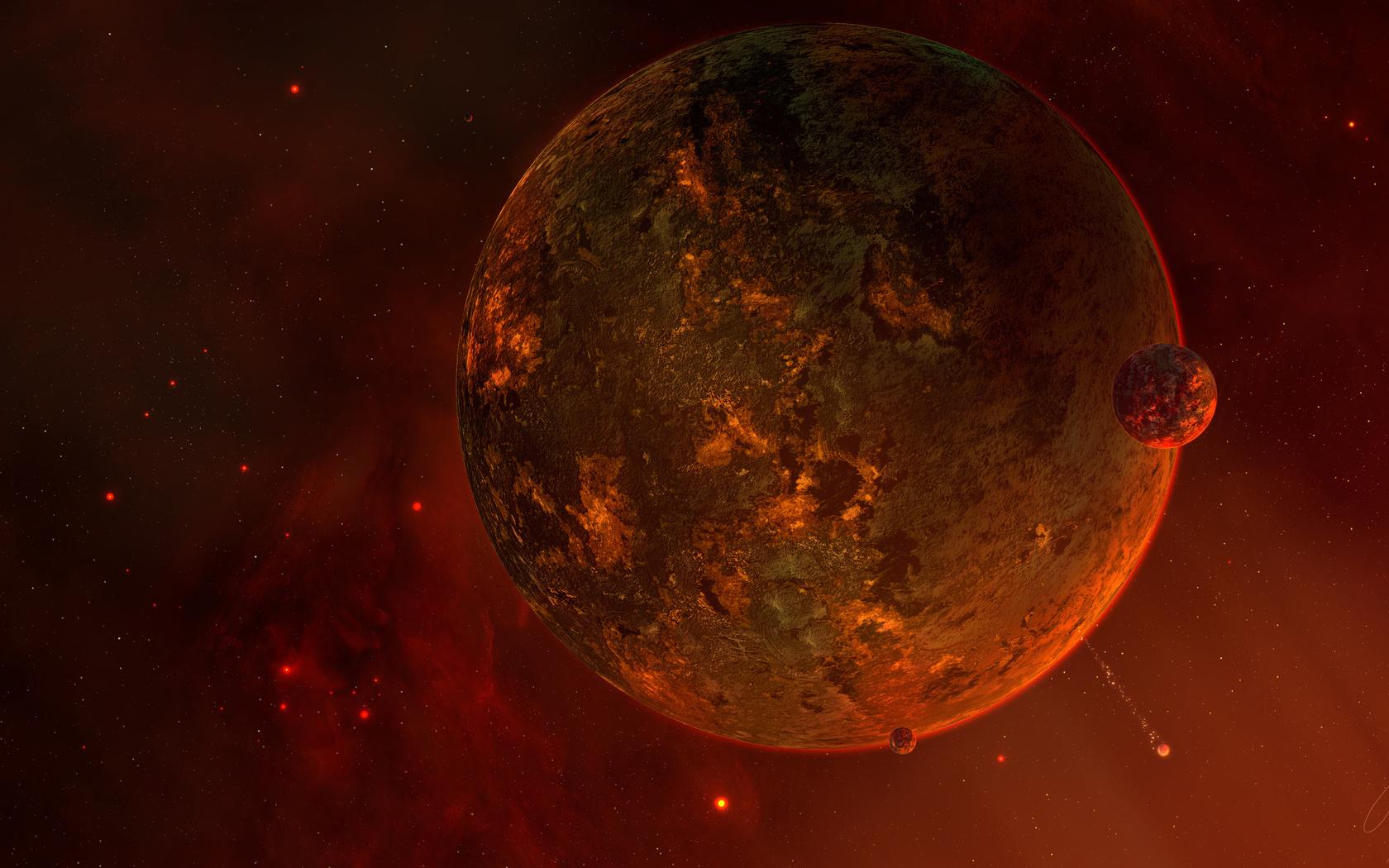 satellite, planet, Planet, sci fi