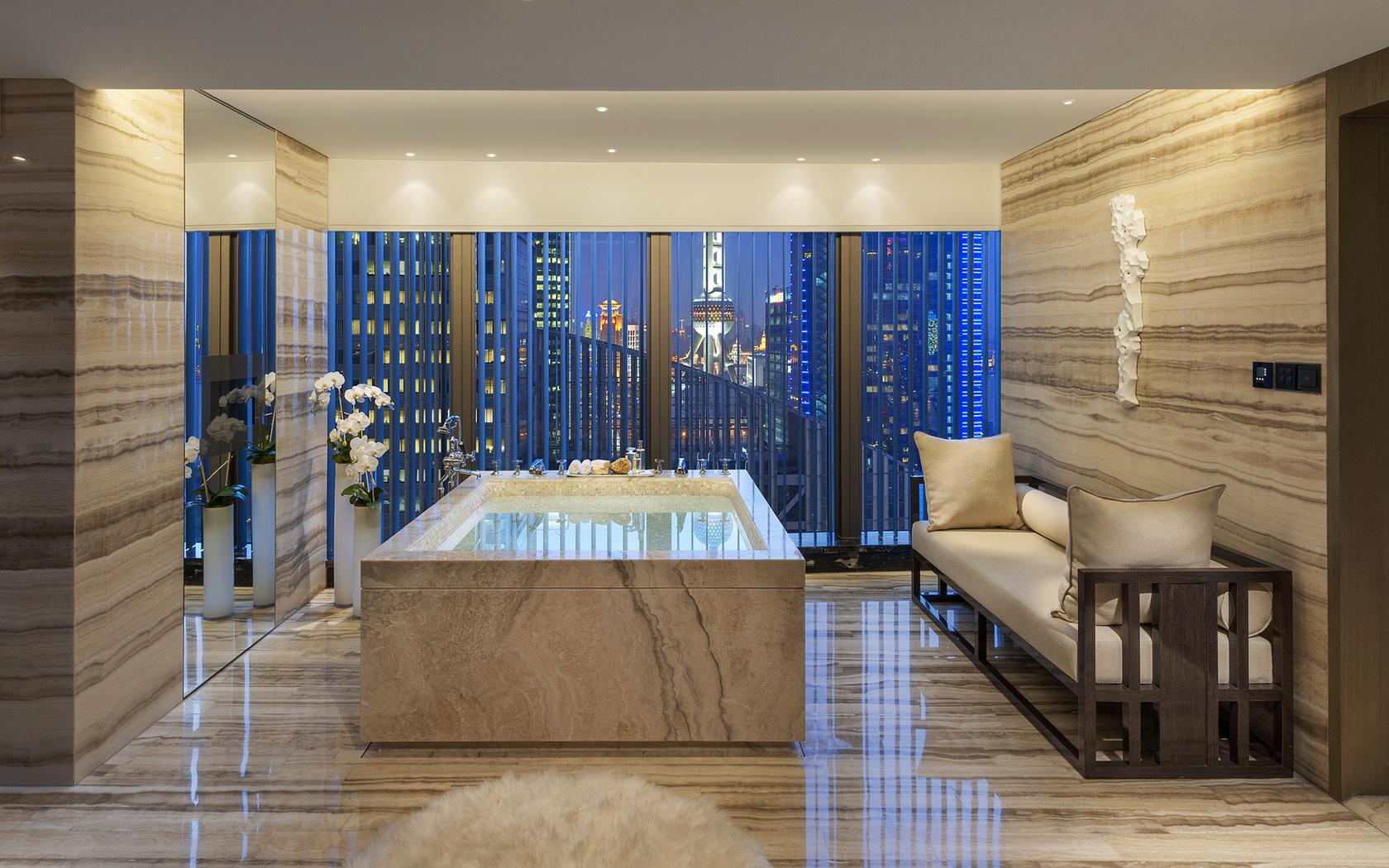 софа, стиль, ванная, джакузи, дизайн, Интерьер, бежевый