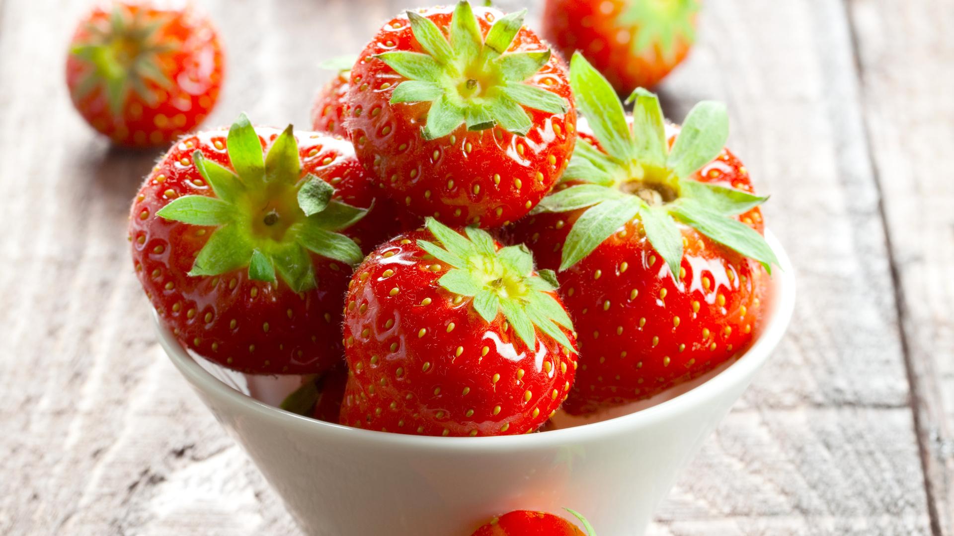 лето, пиала, Клубника, ягоды, красные, стол