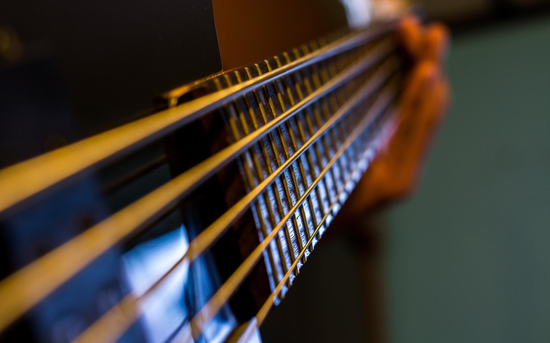 струны, Гитара, макро, музыка